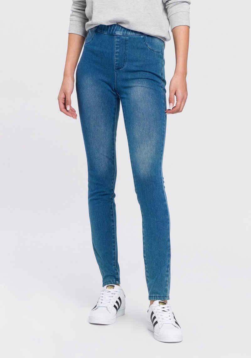 Arizona Jogg Pants »High Waist« in Denim-Optik