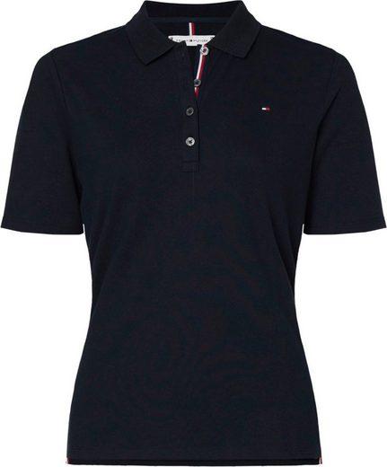 TOMMY HILFIGER Poloshirt »TH ESSENTIAL REG POLO SS« Mit kleinem Logo-Flag und Kontrastnaht am Kragen