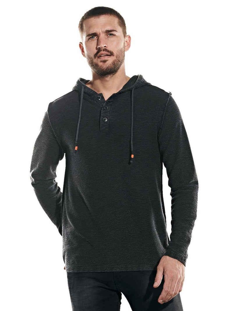 emilio adani Langarmshirt »Langarm-Shirt mit Kapuze«