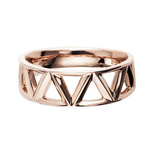 CAÏ Ring »925/- Sterling Silber rotvergoldet Dreiecke«