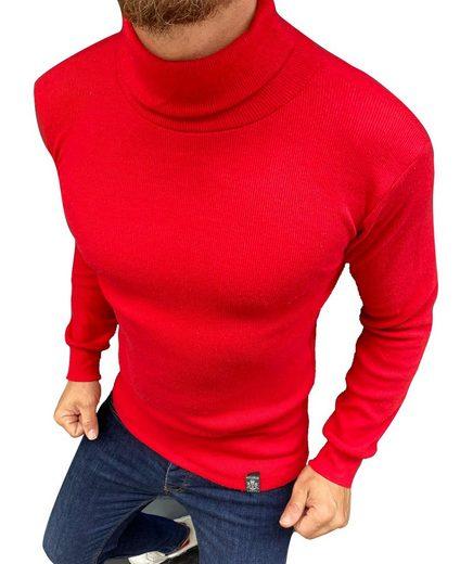 Megaman Jeans Rollkragenpullover »Herren Rollkragenpullover Rolli Rollkragen Pulli Shirt in Premium Qualität«