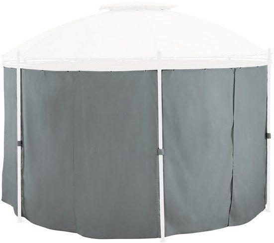 KONIFERA Seitenteile für Pavillon grau, 6 Stk., BxH: 180x185 cm