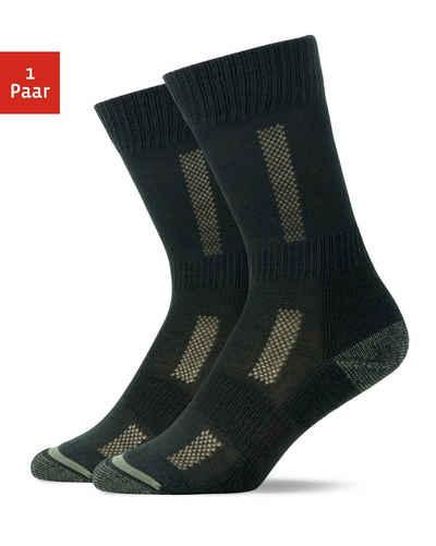 SNOCKS Wandersocken »Wandersocken für Damen & Herren Hiking Socks« (1-Paar) mit verstärktem Fersen- und Zehenbereich