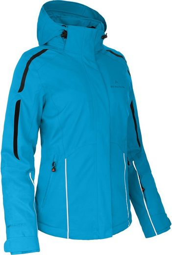 Bergson Skijacke »BRISI« Damen Skijacke, wattiert, 12000 mm Wassersäule, Kurzgrößen, Ozean blau