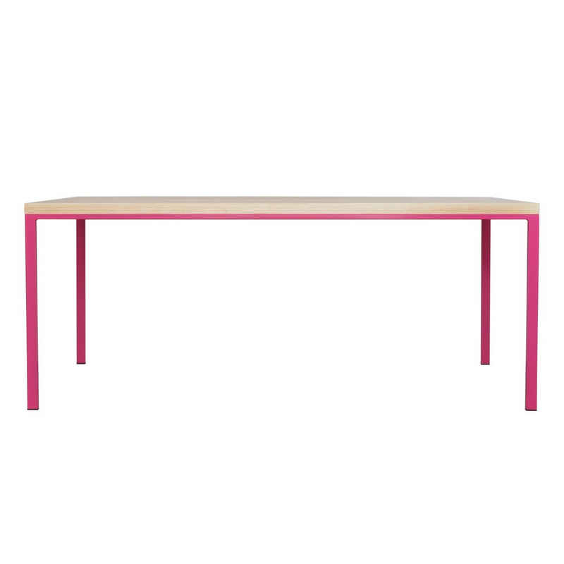 JOHANENLIES Esstisch »Tisch SIMPELVELD ASH Telemagenta«, Recyceltes Eschenholz. Nachhaltig. Regional. In Handarbeit gefertigt.