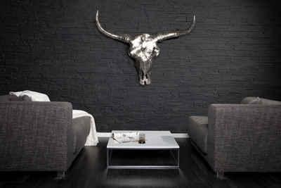 riess-ambiente Wanddekoobjekt »MATADOR 70cm silber« (1 Stück), Stierkopf · Skulptur · Metall · Wanddekoration