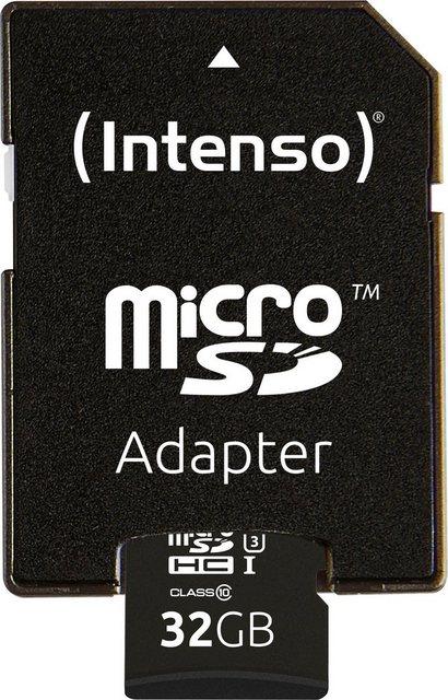 Intenso microSDHC UHS-I Professional SD-Adapter Speicherkarte Lesegeschwindigkeit 90 MB s