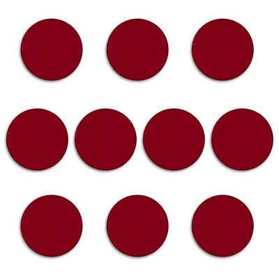 bonsport Magnet »Haftmagnete, 32mm Durchmesser / Höhe 6mm« (10 Stück, Rot)