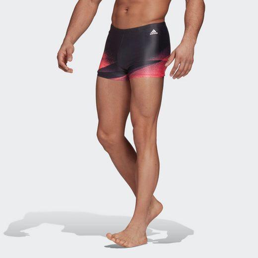 adidas Performance Badehose »3-Streifen Graphic Boxer-Badehose«