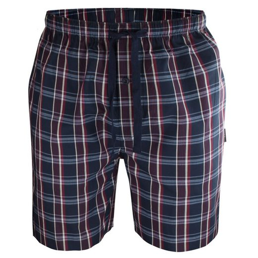 GÖTZBURG Shorty (1 tlg) kurze Sofahose, Pyjama Hose mit Taschen mit Kordel