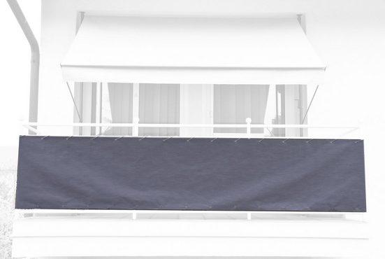 Angerer Freizeitmöbel Balkonsichtschutz Meterware, granitgrau, H: 75 cm