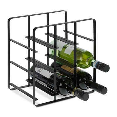 relaxdays Weinregal »Metall Weinregal für 9 Flaschen«