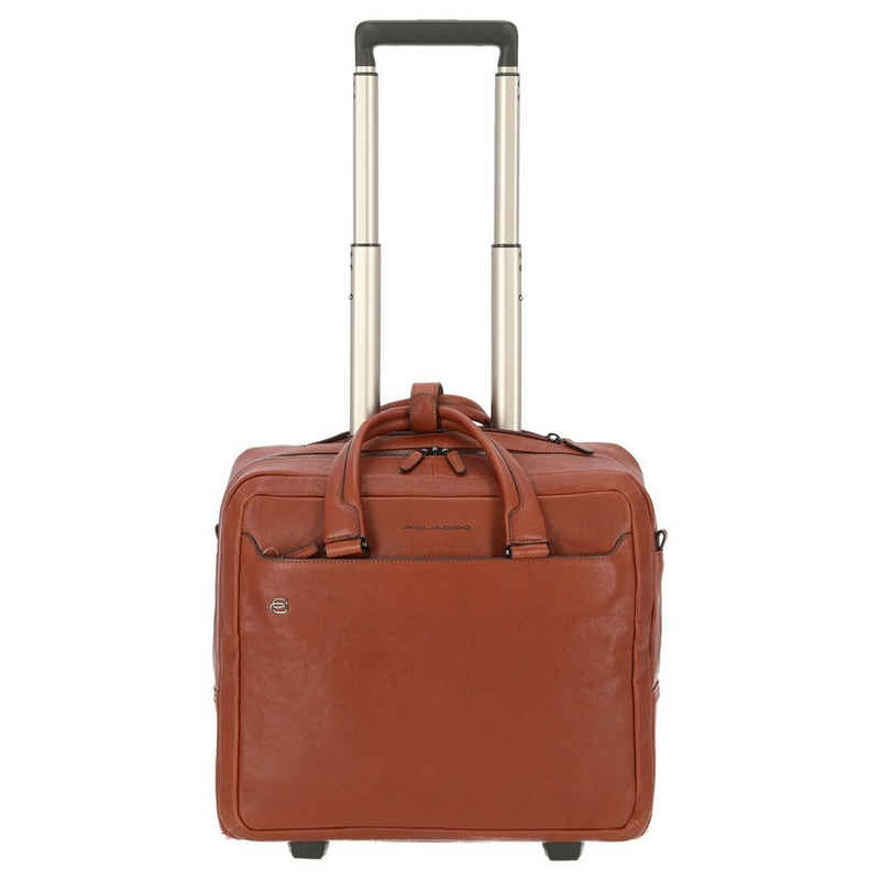 Piquadro Business-Koffer »Black Square 2-Rollen-Businesstrolley 40 cm«, 2 Rollen Rollen