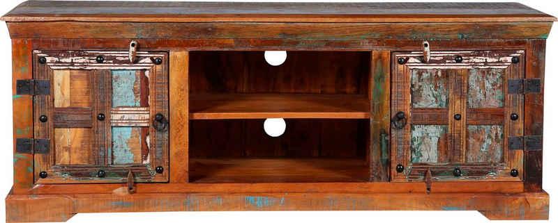 Ploß TV-Board »Jaipur«, aus Altholz, Shabby Chic, Vintage