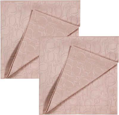 Joop! Stoffserviette »ORNAMENT«, (Set, 2 St), Aus Jacquard-Gewebe gefertigt mit ornamentalem JOOP! Logo-Muster