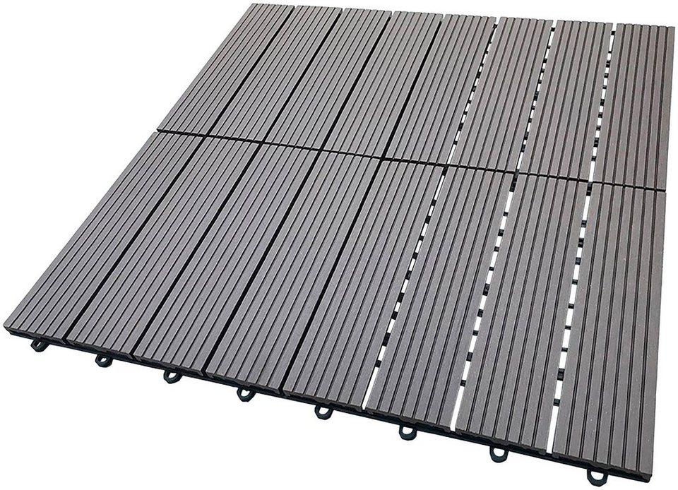 HOME DELUXE Terrassenplatten 30x30 cm 33 St WPC