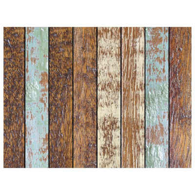 Platzset, »Tischset, Platzset abwaschbar - Holzoptik gestreift - 4 Stück aus erstklassigem Vinyl (Kunststoff) 40 x 30 cm«, Tischsetmacher, (4-St)