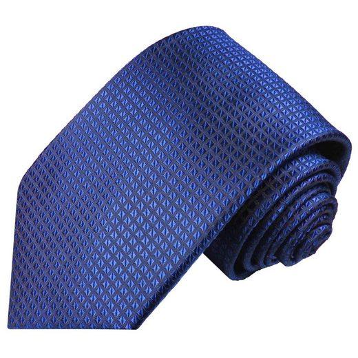 Paul Malone Krawatte »Herren Seidenkrawatte Designer Schlips modern uni Waffelmuster 100% Seide« Schmal (6cm), royal blau 2048