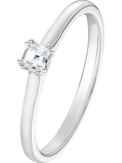 CHRIST Fingerring »CHRIST Damen-Damenring 585er Weißgold 1 Diamant«