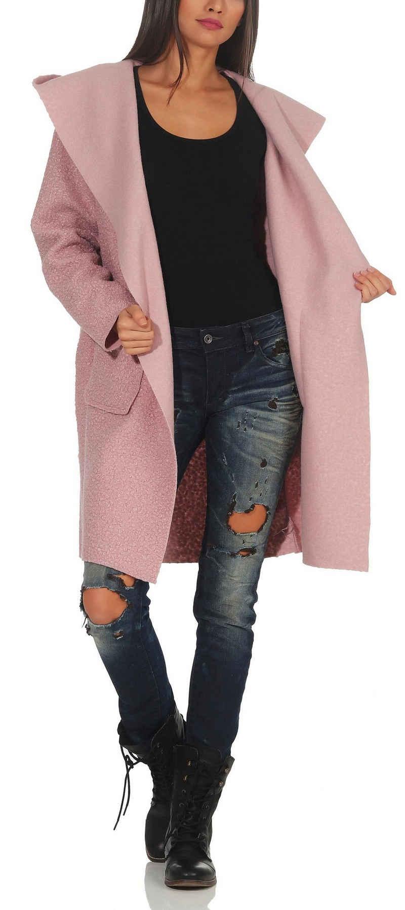 malito more than fashion Kurzmantel »9320« Reverskragen