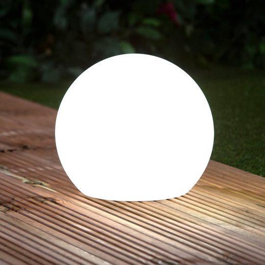 EASYmaxx Dekokugel, Solar-Dekokugel Farbwechsel in weiß