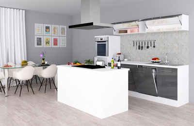 RESPEKTA Küchenzeile »RP280«, mit E-Geräten, Breite 280 cm