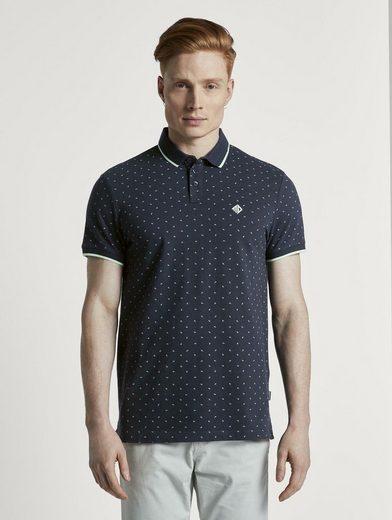 TOM TAILOR Denim Poloshirt »Poloshirt mit Allover-Print«
