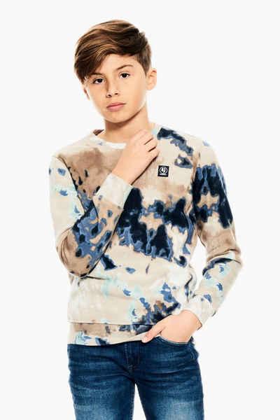 Garcia Sweater »J13663 - 53-off white 1« mit Batikeffekt