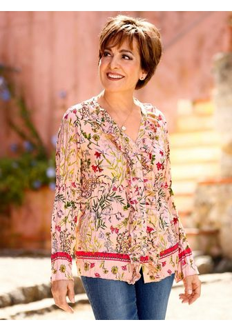 Paola Crinklebluse su Floraldruck