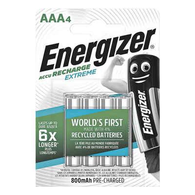 Energizer »Extreme« Akku, (4 St), AAA, hält bis zu 6x länger