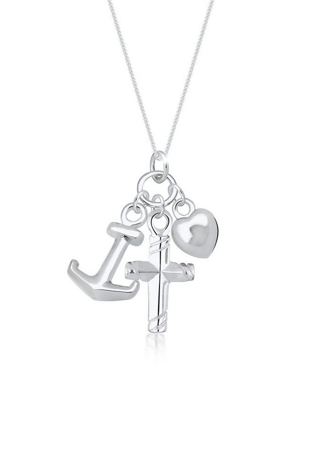 Silber Anhänger Halskette Herz Form Perfektes Geschenk Liebes Anhänger  charm