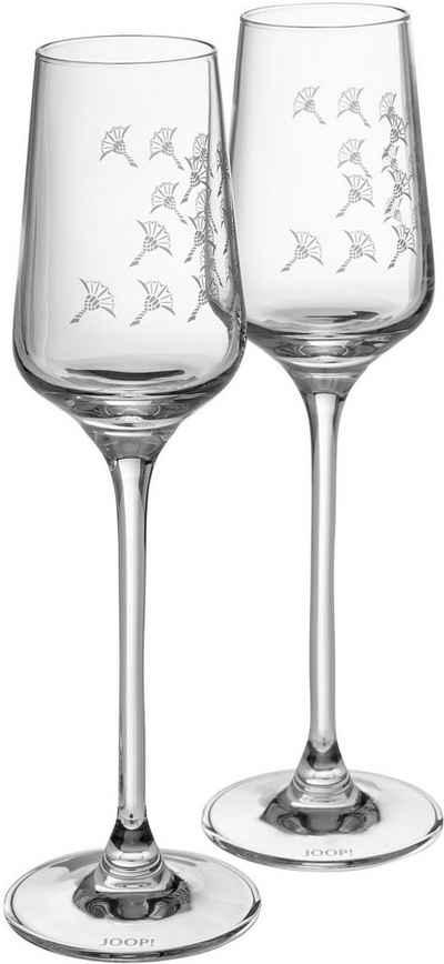 Joop! Digestifglas »JOOP! FADED CORNFLOWER«, Kristallglas, mit Kornblumen-Verlauf als Dekor, 2-teilig
