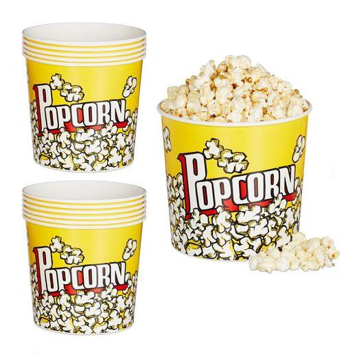 relaxdays Snackschale »12 x Popcorn Eimer wiederverwendbar«, PP