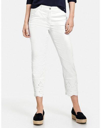 GERRY WEBER 7/8-Jeans »7/8 Jeans mit Lochstickerei Best4me« (1-tlg) Hose