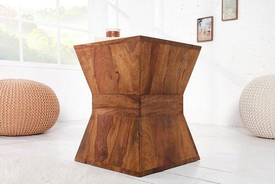 riess-ambiente Beistelltisch »PYRAMID 35cm natur«, aus Massivholz