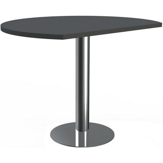 KERKMANN Tischelement »Artiline Transparent«, Ansatztisch mit Säulenfuß