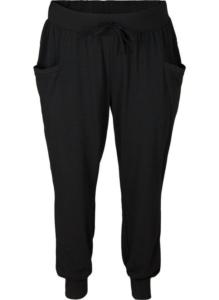active by zizzi -  Trainingshose Große Größen Damen Lockere Hose mit Taschen und Kordelzug