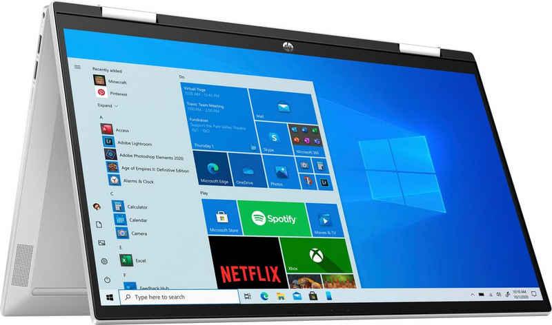 HP Pavilion x360 Convertible 15-er0200ng Convertible Notebook (39,6 cm/15,6 Zoll, Intel Core i5 1135G7, Iris© Xe Graphics, 512 GB SSD, Kostenloses Upgrade auf Windows 11, sobald verfügbar)