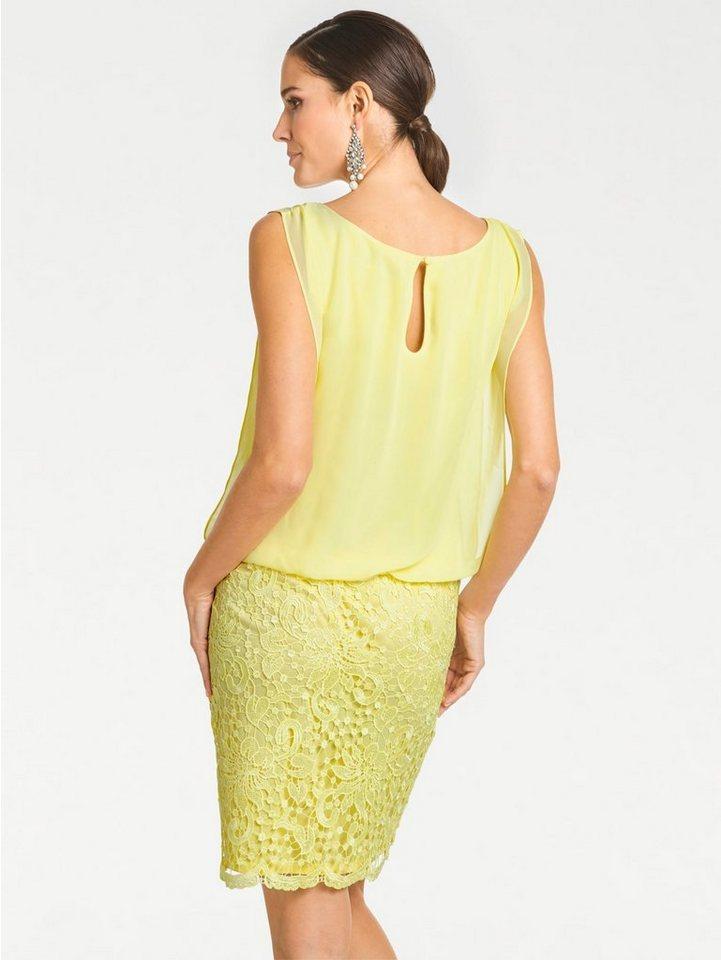 Festtagsmode - PATRIZIA DINI by Heine Spitzenkleid »Spitzen Kleid« › gelb  - Onlineshop OTTO