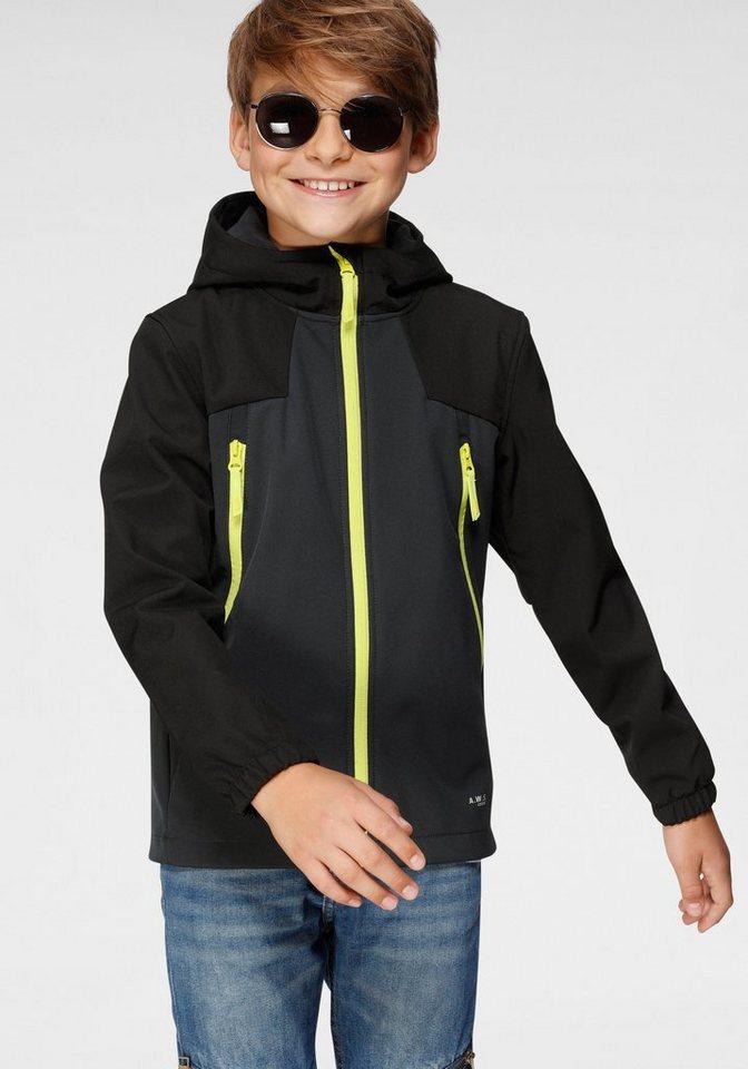 Softshell Jacke Softshelljacke Jungen Kinder Wasserabweisend Icepeak Kapuze