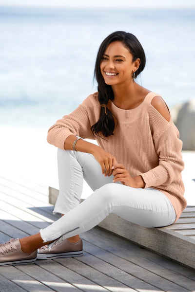 LASCANA Strickpullover mit Cut-outs