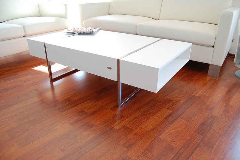 carl svensson Couchtisch »Design Couchtisch Tisch Wohnzimmertisch N-111 Carl Svensson Weiß Chrom«