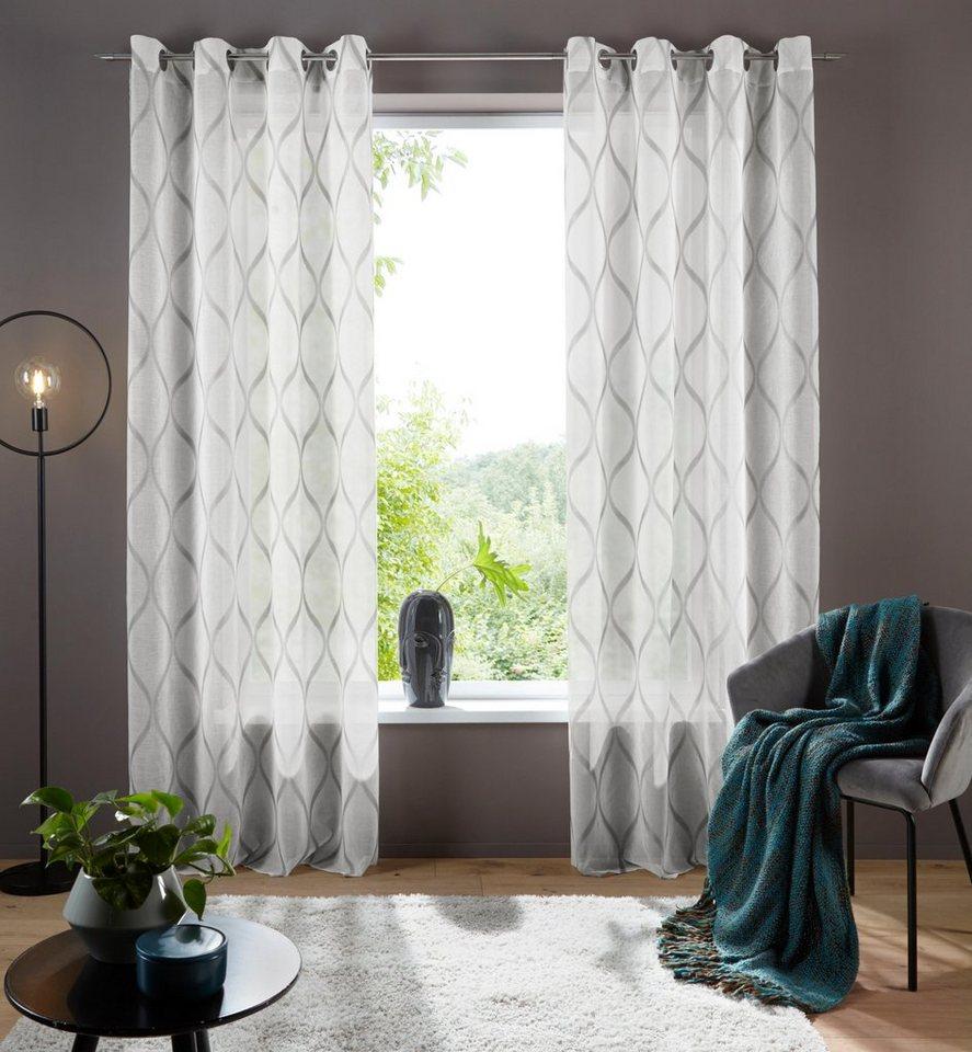 my home Gardine »Davos«, my home, Ösen (20 Stück), Transparenter Stoff  online kaufen  OTTO