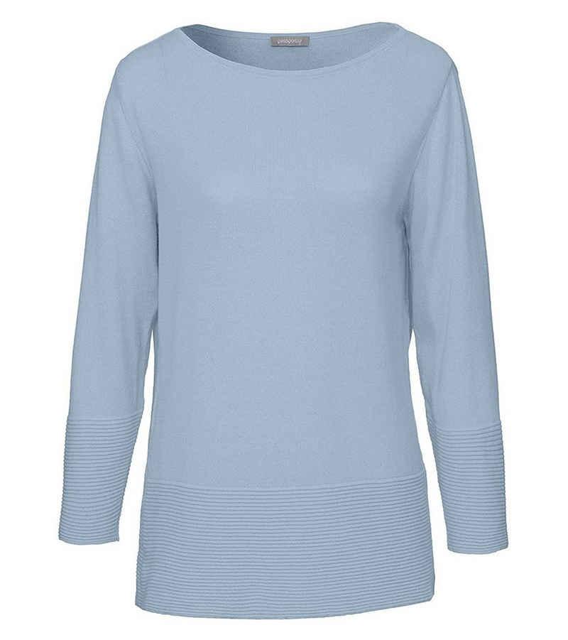 Passport Longsweatshirt »passport Blue Motion Langarm-Shirt lässiges Damen Sweatshirt mit weitem Schnitt Freizeit-Shirt Blau«