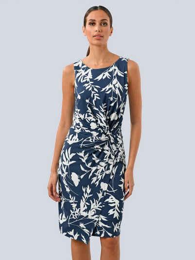 Alba Moda Sommerkleid mit seitlichem Knoten