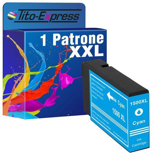 Tito-Express PlatinumSerie »ersetzt Canon PGI-1500 PGI-1500XL PGI1500 PGI 1500 XL (9193B001) Cyan« Tintenpatrone