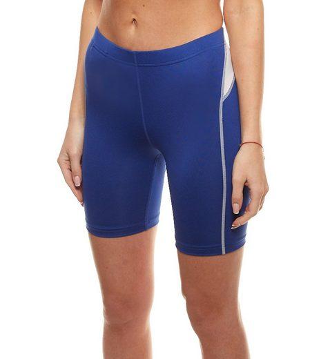 Craft Funktionshose »Craft Sport-Shorts elastische Damen Funktions-Hose mit Innentasche Fitness-Hose Blau«