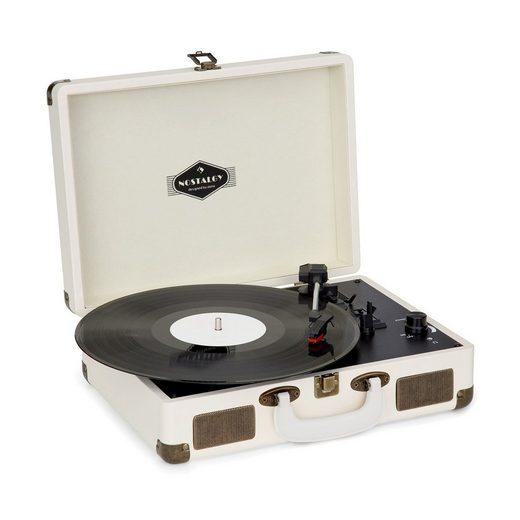 Auna »Nostalgy by auna Peggy Sue Retro-Plattenspieler LP USB AUX creme/Messing-Optik« Plattenspieler