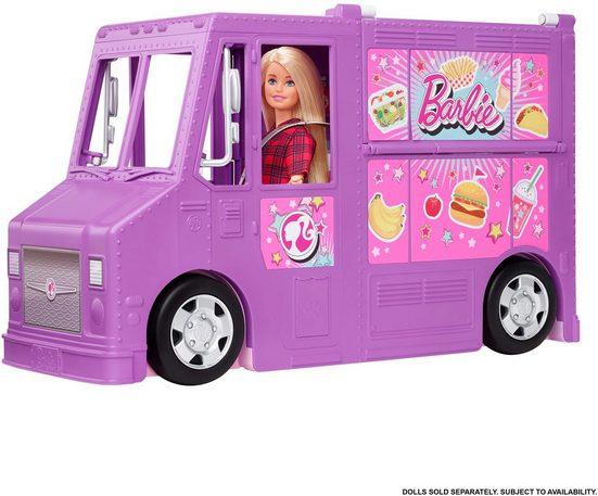 Mattel® Spielzeug-Bus »Barbie Food-Truck (aufklappbar)«, inkl. 30 Zubehörteile