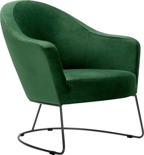 LOVI Loungesessel »Grape«, Metallrahmen grau, Sitzfläche in hochwertigem Formschaum für ein leichtes, luftiges Sitzgefühl